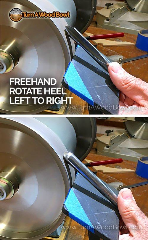 40-40 Grind Gouge Heel Reduce Freehand