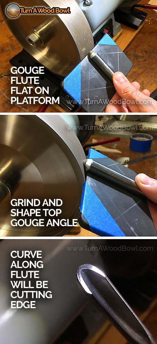 Shaping Top Edge 40-40 Bowl Gouge Sharpening
