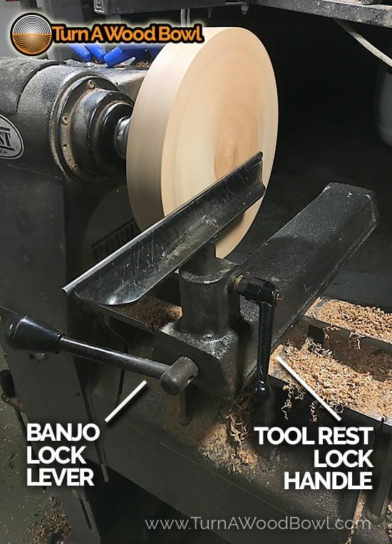 Tool Rest Banjo Lock Handle Lever Knob