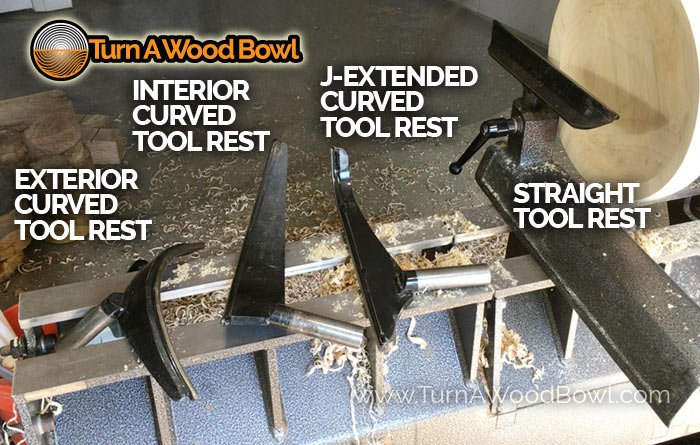 Wood Lathe Tool Rest Different Shapes Types