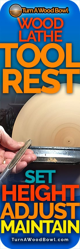Wood Lathe Tool Rest Height Adjust Maintain