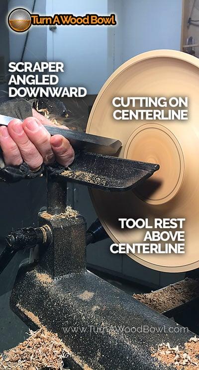 Wood Lathe Tool Rest Height Scraper