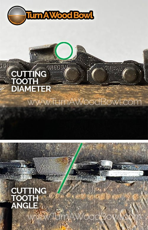 Chainsaw Blade Cutting Tooth Angle Diameter