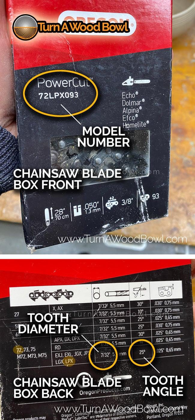 Chainsaw Blade Identify Size Model