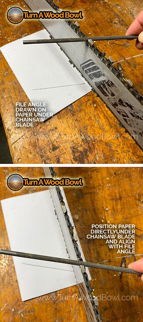Chainsaw Sharpening Angle Guide Under Bar