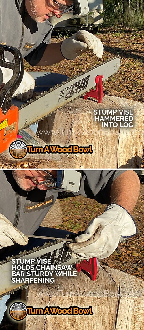 Chainsaw Sharpening Stump Vise