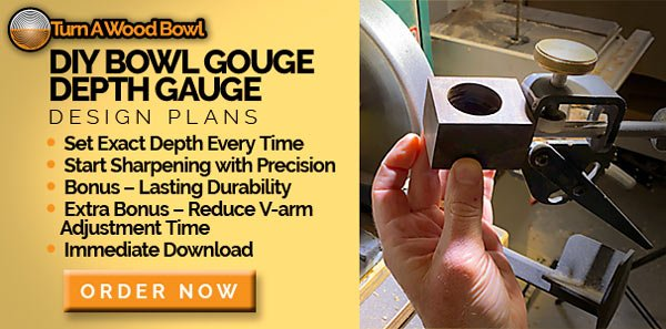 DIY Bowl Gouge Depth Gauge Design Plans Block