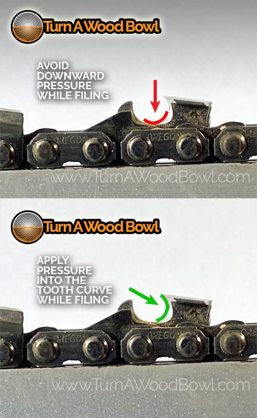File Pressure Chainsaw Cutting Tooth