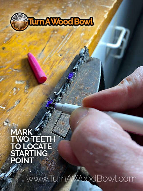 Mark Two Chainsaw Teeth Start Point